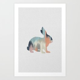Pastel Rabbit Art Print