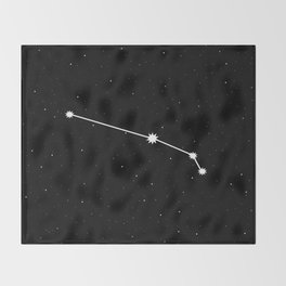 Aries Astrology Star Sign Throw Blanket