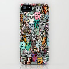 Gemstone Cats iPhone SE Slim Case