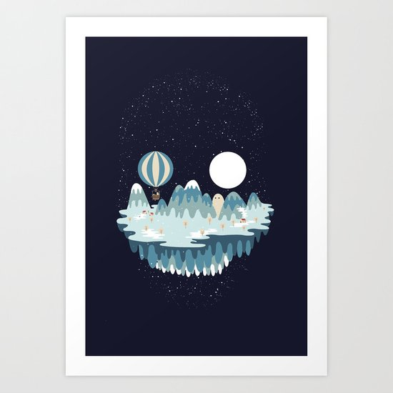 Winter skull Art Print