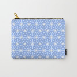Cold Blue Geometric Flowers and Florals Isosceles Triangle Carry-All Pouch
