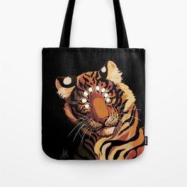 Do Not Give In to Despair (orange burn) Tote Bag