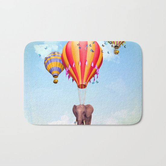 Elephant first fly Bath Mat