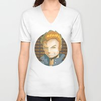 mike wrobel V-neck T-shirts featuring Mike  by EY Cartoons