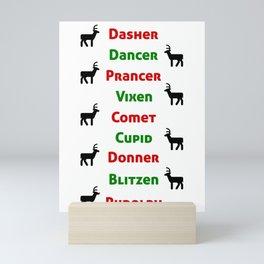 Santas Reindeer Mini Art Print