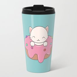 Kawaii Cute Cat Donut Travel Mug