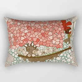 Bubble Waves Rectangular Pillow