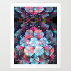 Graphic Atoms Art Print