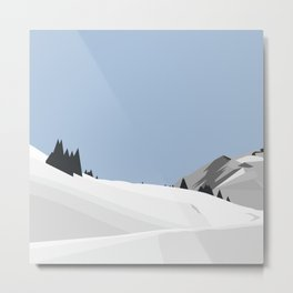 snowy mountains Metal Print