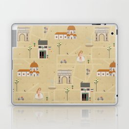 Florence Map Print Illustration Laptop & iPad Skin