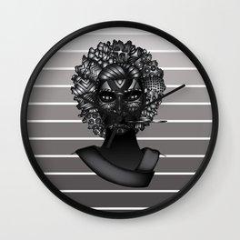 Masque de La Bergère Wall Clock