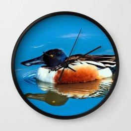 Mr. Northern Shoveler Wall Clock