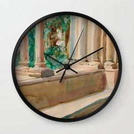 "John Singer Sargent ""Tarragona Terrace and Garden"" Wall Clock"
