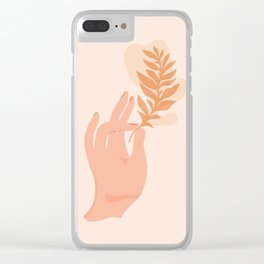 Abstraction_NAMASTE_LOVE_Minimalism_001 Clear iPhone Case