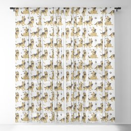 German Shepherd Puppies Sheer Curtain