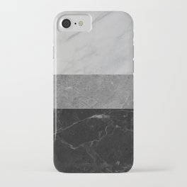 Marble - White, Grey, Black iPhone Case