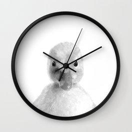 Black and White Duckling Wall Clock