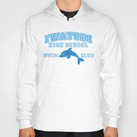 iwatobi Hoodies featuring Iwatobi - Dolphin by drawn4fans