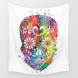 Sugar Skull Watercolor Print Wall Poster Home Decor Wall Tapestry