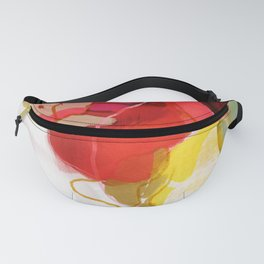 color poem pink abstract Fanny Pack