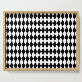 Jester Black and White Serving Tray