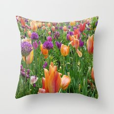 A Sunset in Bloom Throw Pillow