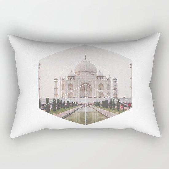 Taj Mahal - Geometric Photography Rectangular Pillow