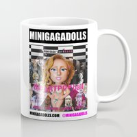 artrave Mugs featuring artRAVE minigadolls by Sergiomonster