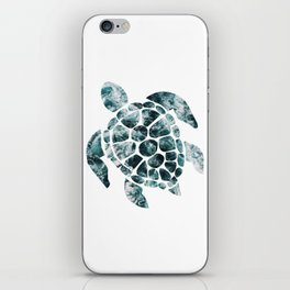 Sea Turtle - Turquoise Ocean Waves iPhone Skin