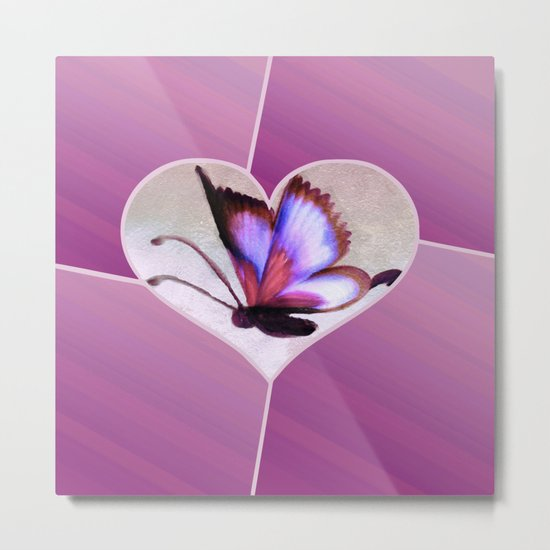 Butterfly Love - Lavender Metal Print