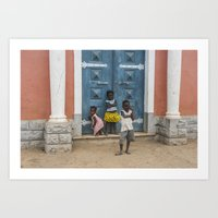Hey Mister, Take My Picture Art Print
