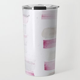 25  | 181101 Watercolour Palette Abstract Art | Lines | Stripes | Travel Mug
