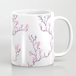 Pink watercolor magnolia pattern Coffee Mug