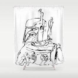 The Hunter B&W Shower Curtain