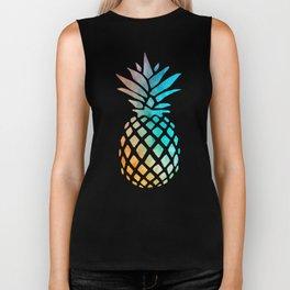 Watercolor Pineapple Biker Tank