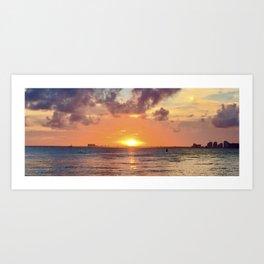 Biscayne Sunset Art Print