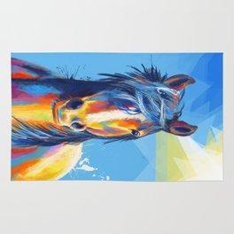 Horse Beauty - colorful animal portrait Rug