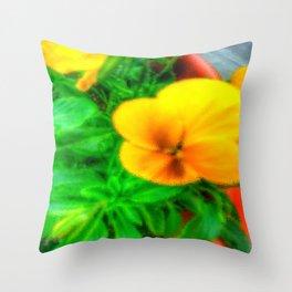 Yellow Viola Throw Pillow