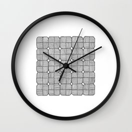 Black Squares Mosaic Wall Clock