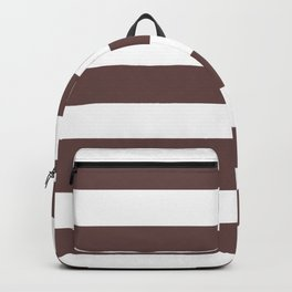 Rose ebony - solid color - white stripes pattern Backpack