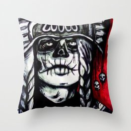 MUERTE Throw Pillow
