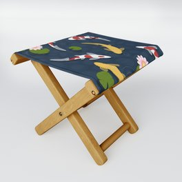 Japanese Koi Fish Pond Folding Stool