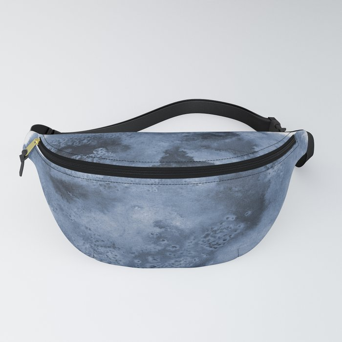 Ink Spill 1 in Blue Fanny Pack