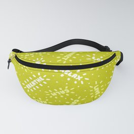 Positive Vibes on Lime Fanny Pack