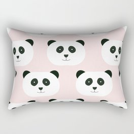 Panda Love -Pink Rectangular Pillow