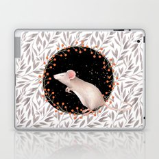 Beautiful nosey Mouse with flower backround- Animal- child - mice- flowers Laptop & iPad Skin