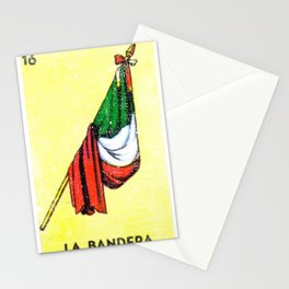 La Bandera Mexican Loteria Card Stationery Cards