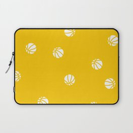 Basketball Gold Yellow Pattern Dribble Ball Court Hoops Game Laptop Sleeve
