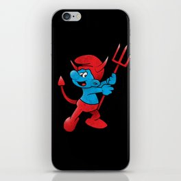 The Little Blue Devil iPhone Skin