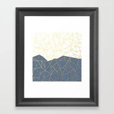 Ab Half and Half Navy Gold Framed Art Print